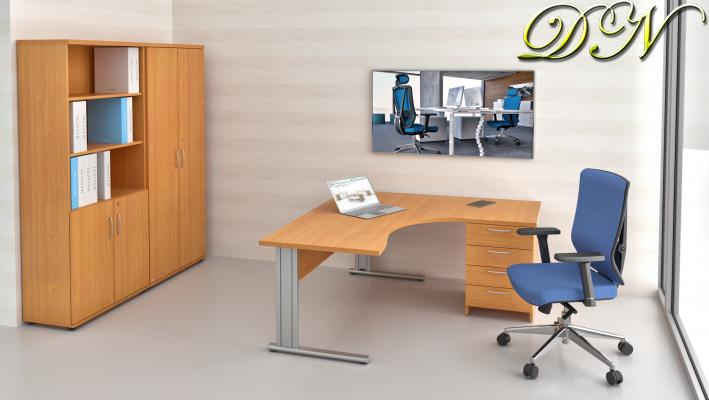 Zostava kancelárskeho nábytku Komfort 1.12, buk - ZEP 1.12 11