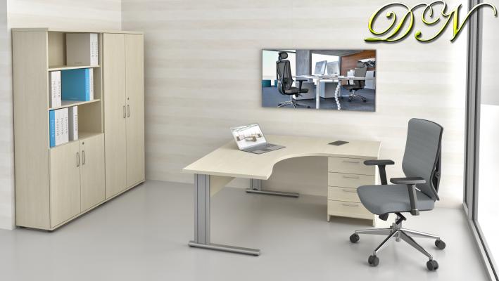 Zostava kancelárskeho nábytku Komfort 1.12, javor - ZEP 1.12 12