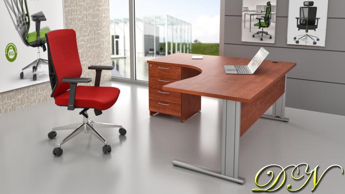 Zostava kancelárskeho nábytku Komfort 1.14, calvados - ZEP 1.14 03
