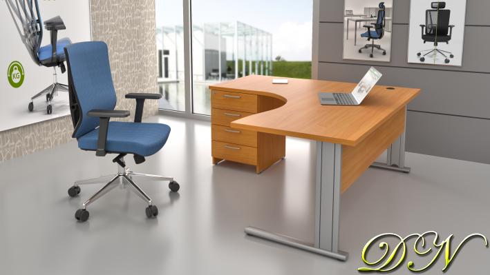 Zostava kancelárskeho nábytku Komfort 1.14, buk - ZEP 1.14 11