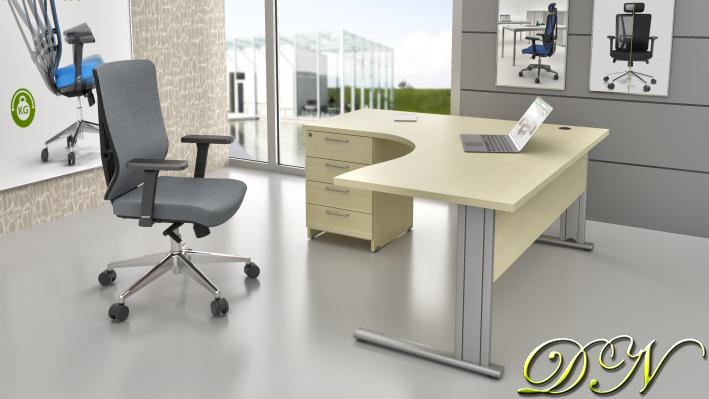 Zostava kancelárskeho nábytku Komfort 1.14, javor - ZEP 1.14 12