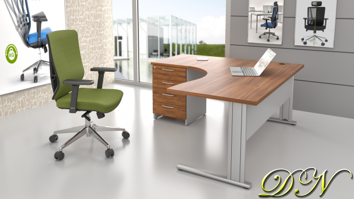 Zostava kancelárskeho nábytku Komfort 1.14, orech / sivá - ZEP 1.14 19