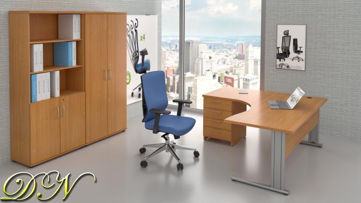 Zostava kancelárskeho nábytku Komfort 1.18, buk - ZEP 1.18 11