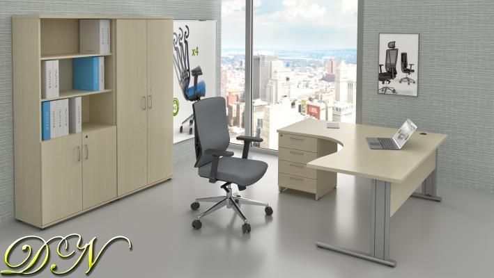 Zostava kancelárskeho nábytku Komfort 1.18, javor - ZEP 1.18 12