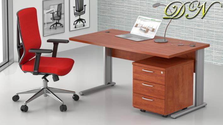 Zostava kancelárskeho nábytku Komfort 1.2, calvados - ZEP 1.2 03