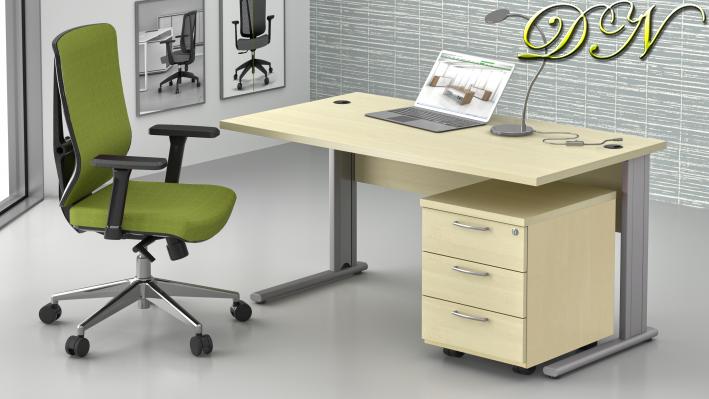 Zostava kancelárskeho nábytku Komfort 1.2, javor - ZEP 1.2 12