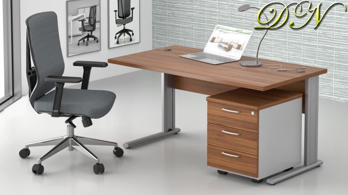 Zostava kancelárskeho nábytku Komfort 1.2, orech / sivá - ZEP 1.2 19