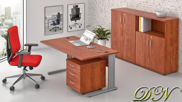 Zostava kancelárskeho nábytku Komfort 1.6, calvados - ZEP 1.6 03