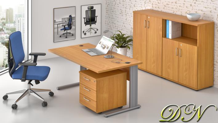 Zostava kancelárskeho nábytku Komfort 1.6, buk - ZEP 1.6 11