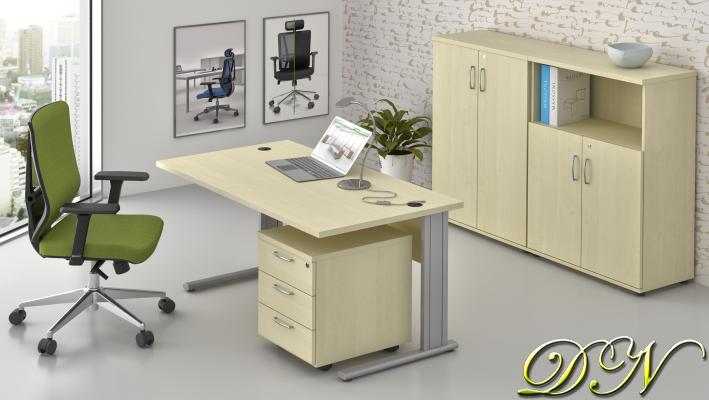 Zostava kancelárskeho nábytku Komfort 1.6, javor - ZEP 1.6 12