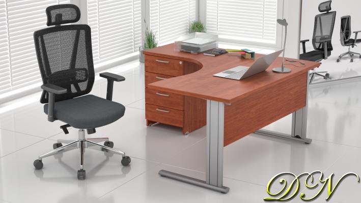 Zostava kancelárskeho nábytku Komfort 1.8, calvados - ZEP 1.8 03