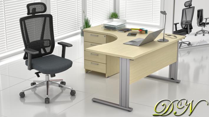 Zostava kancelárskeho nábytku Komfort 1.8, javor - ZEP 1.8 12