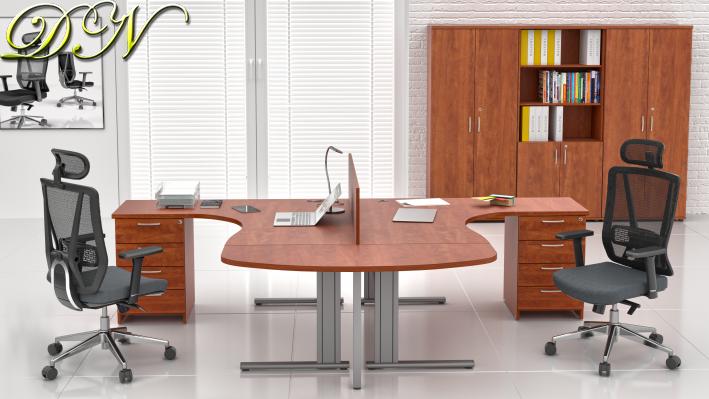 Zostava kancelárskeho nábytku Komfort 2.12, calvados - ZEP 2.12P 03