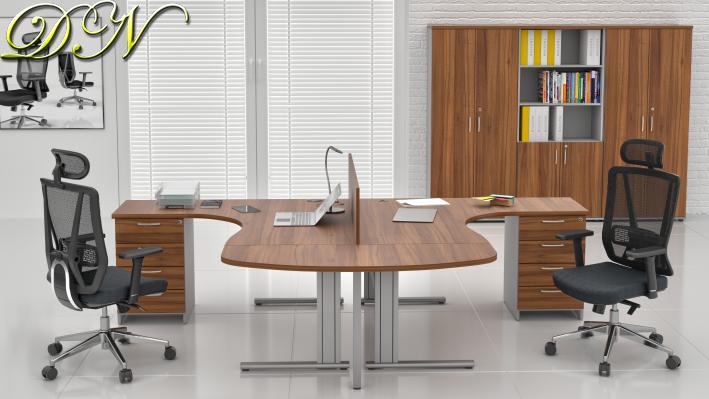 Zostava kancelárskeho nábytku Komfort 2.12, orech / sivá - ZEP 2.12P 19