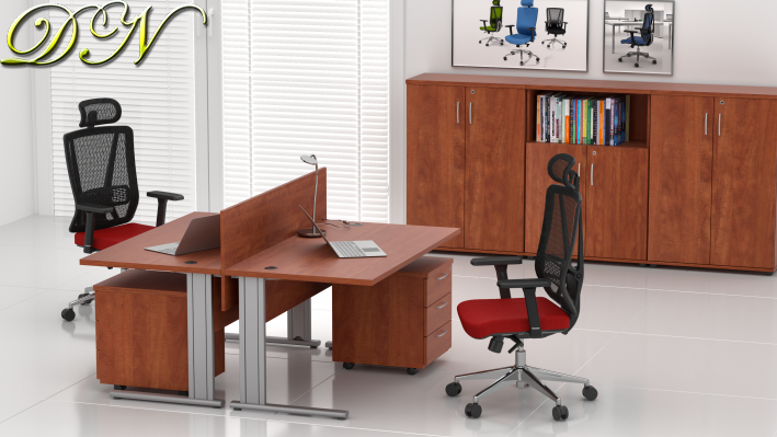 Zostava kancelárskeho nábytku Komfort 2.6, calvados - ZEP 2.6 03