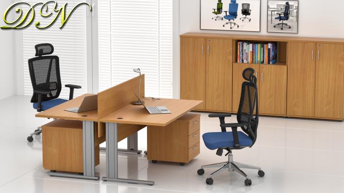 Zostava kancelárskeho nábytku Komfort 2.6, buk - ZEP 2.6 11