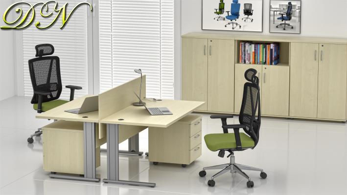 Zostava kancelárskeho nábytku Komfort 2.6, javor - ZEP 2.6 12