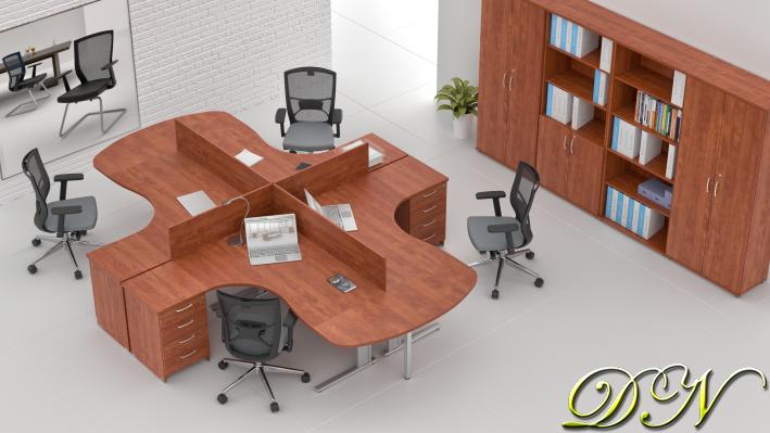 Zostava kancelárskeho nábytku Komfort 4.12, calvados - ZEP 4.12P 03