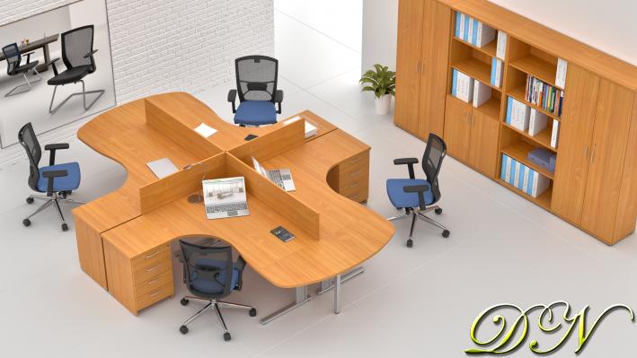 Zostava kancelárskeho nábytku Komfort 4.12, buk - ZEP 4.12P 11
