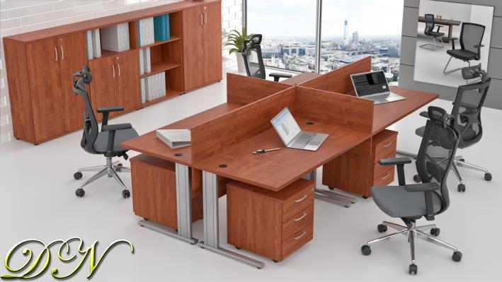 Zostava kancelárskeho nábytku Komfort 4.6, calvados - ZEP 4.6 03