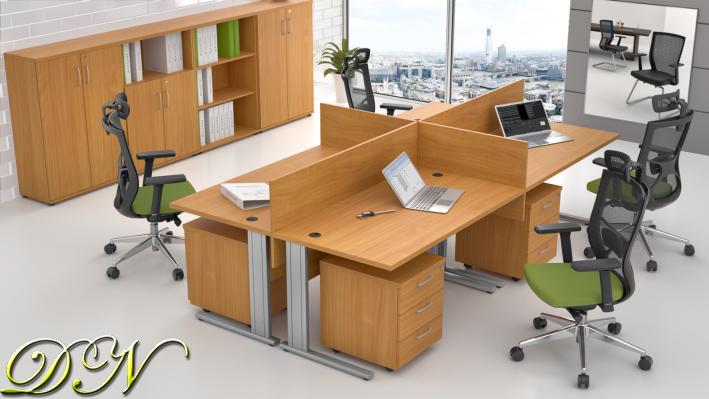 Zostava kancelárskeho nábytku Komfort 4.6, buk - ZEP 4.6 11